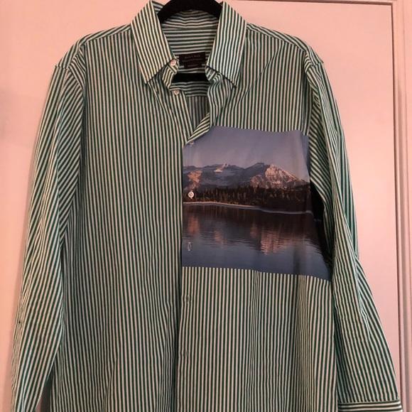 18076115 Shirts   Zara Abstract Print Shirt   Poshmark